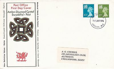 GB 1976 new Definitives Wales VGC  FDC