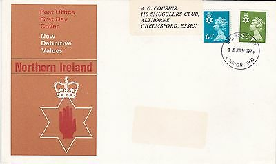 GB 1976 new Definitives Norther Ireland VGC  FDC