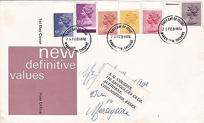 GB 1976 new Definitives VGC  FDC