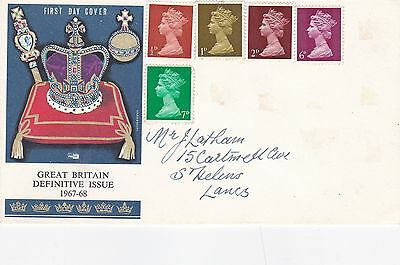 GB 1967-8 definitive Issue FDC