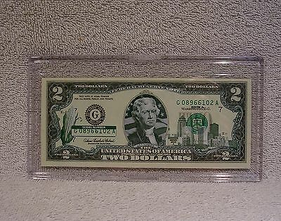 Iowa  $2 Two Dollar Bill - Colorized State Landmark - Uncirculated Authentic