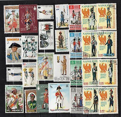 UNIFORMS MILITARY Thematic STAMP COLLECTION Mint Used REF:TS156