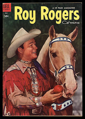 Roy Rogers (1948) #77 1st Print Mistake Blank Inside Covers Trigger Photo Fine