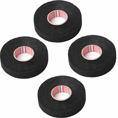 4 rolls car automotive wire harness wrap adhesive cloth fabric 4pcs 19mm x 25m adhesive cloth fabric tape cable car auto looms wiring harness