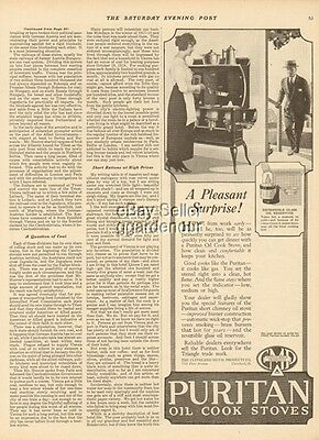 1919 Cleveland Metal Products Ohio-Puritan Oil Cook Stove/Range-SURPRISE Ad