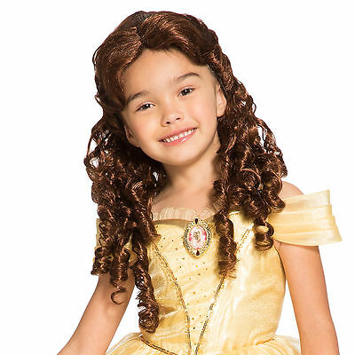 Disney Store Deluxe Princess Belle Beauty & the Beast Costume Wig Girls Dress Up