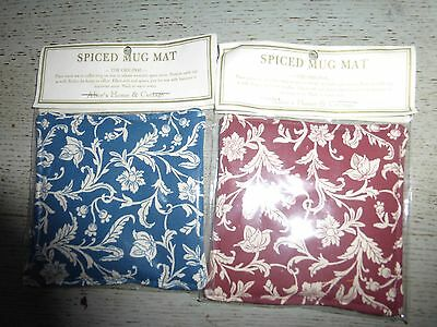 2 x Alice's Cottage Spiced Mug Mats ~The Oiriginal~New, 1 Blue 1 Burgundy