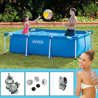 intex 549x132 cm swimming pool ultra frame stahlwand schwimmbad sandfilter 28332 eur 649 00. Black Bedroom Furniture Sets. Home Design Ideas