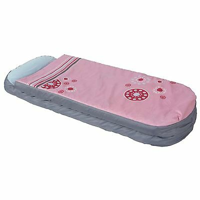 Girls Junior Generic Ready Bed All In One Sleepover Solution Kids Pink Portable