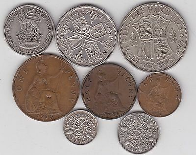 1935 George V Eight Coin Set In Good Fine Or Better Condition