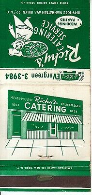 Richy's Catering Service 1049-1053 Manhattan Ave. Brooklyn NYC NY Matchcover