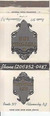 Victoria Inn Route 517 Allamuchy New Jersey NJ Old Matchcover