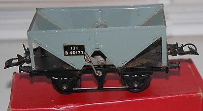 Hornby Series O Gauge Hopper Wagon In Grey Livery With Original Box