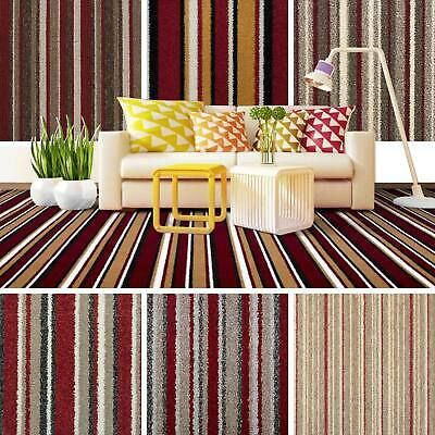 Red Striped Carpet, Red Stripe Carpets, Cheap Carpets, Loop, Twist, Saxony 4m