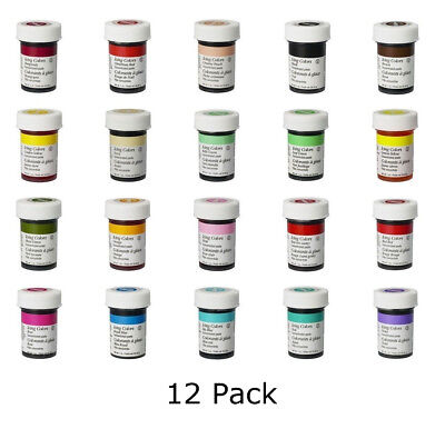 Wilton Icing Color Concentrate Paste Gel Cake Cupcake Food Colouring Baking x 12
