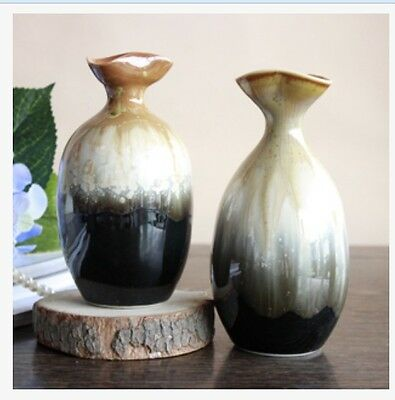 Simple Style Handmade Pottery Creative Decor Vase Floral Organ Decoration Set