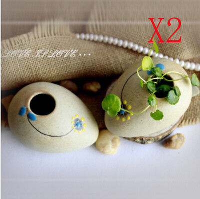 Modern Style Handmade Pottery Creative Vase Floral Organ Home Decoration 2 Set