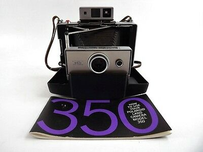 Vintage Polaroid 350 Land Camera In Case With Manual