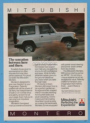 1987 Mitsubishi Montero The sensation between here and there vintage photo ad