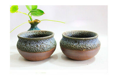 A-H Simple Style Handmade Pottery Flowerpot Floral Organ Home Decoration Set