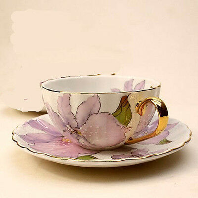 #European Style Ceramic Handmade One Coffee Cup+One Dish Home Decoration