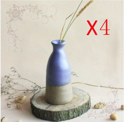 F-F Modern Style Handmade Pottery Creative Vase Floral Organ Decoration 4 Pcs