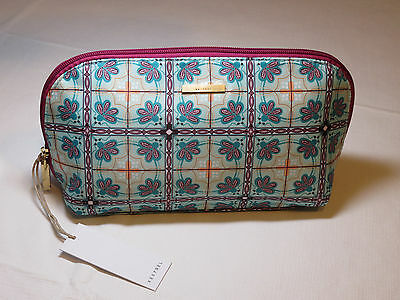 Kestrel Medium Clutch single zip Cosmetic pouch travel make up case multi NWT*^
