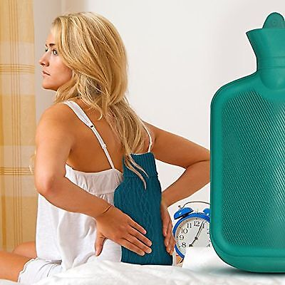 AZMED Classic Hot Water Bottle Made of Premium Rubber, Ideal for Quick Pain Reli