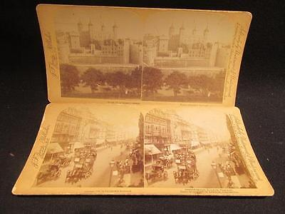 London England Tower of London & Oxford Street 1892 Underwood Jarvis Stereoviews