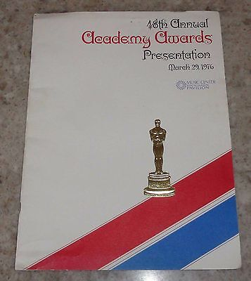 1976 48th Annual Academy Awards Program Jack Nicholson Ann Margaret Jaws