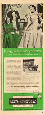 1955 vintage AD  NEW HOME SEWING MACHINES DeLuxe Portable homemaking  (110614)