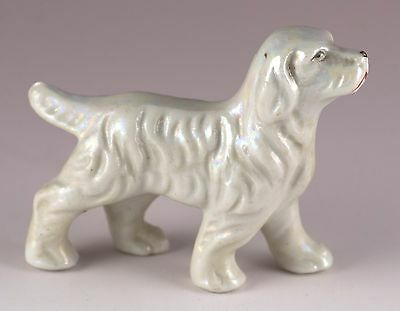 "Vintage Miniature Porcelain Setter Dog Figurine 2"" High Made In Japan"