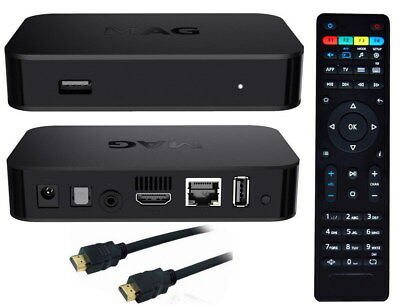 MAG 254 IPTV SET TOP  BOX M3U Multimedia Player Internet TV Box  USB HDMI HDTV