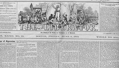 William Lloyd Garrison Anti Slavery Newspaper Death Of Slavery Emancipation Bill
