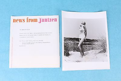 VTG 1960's JANTZEN SWIMSUIT B&W PRESS RELEASE ADVERTISING CATALOG PHOTOGRAPH