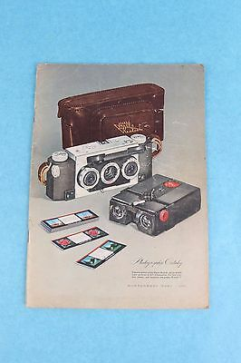 Vintage 1950 Montgomery Wards Photograpic Camera Lens Projector Etc. Catalog