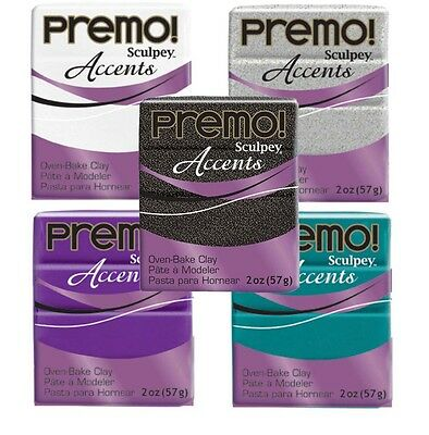 Sculpey Premo Accents Polymer Clay 2oz U Pick