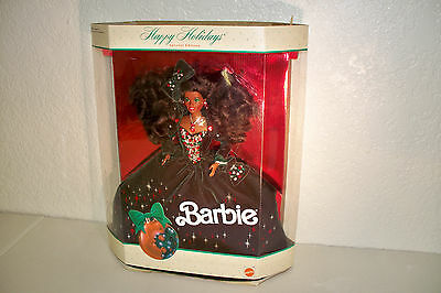 Vintage Mattel African American Barbie Doll Happy Holidays Special Edition 1991