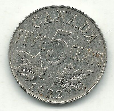 A Very Fine 1932 Canada-(Canadian) Five Cents-Jan415