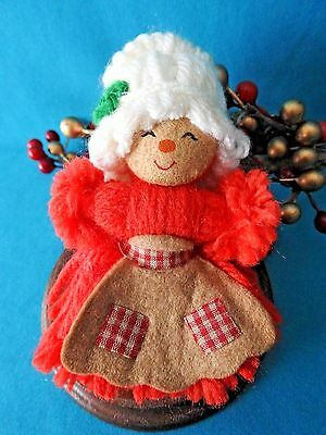 Hallmark Ornament  1975 Mrs. Santa Yarn Ornament