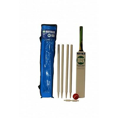 Buffalo Sports Wooden Cricket Set With Poly Armour Bat - Multiple Sizes (Crick41