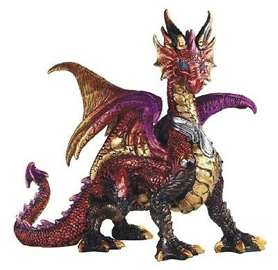 Red and Gold Dragon Statue Figurine Mythical Fantasy Collectible Statuette New
