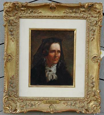 """Antique 19th Century Oil on Canvas """"Lady of Substance"""" by John Barnard Whitaker"""