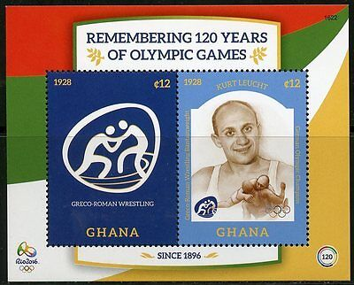Ghana 2016 Remembering 120 Years Of The Olympics Leucht Souvenir Sheet  Mint Nh