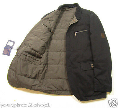 Brooks Brothers Reversible Navy Blue/Gray Full Zip Quilted Down Jacket $998