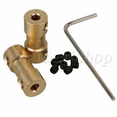 2pcs RC Airplane 3.17mm to 4mm Brass Motor Shaft Coupling Coupler Connector
