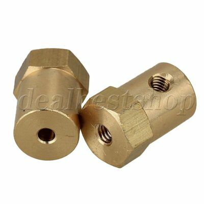 2pcs Brass Shaft Coupling Coupler DC Motor Connector  Robot DIY Accessories 3mm