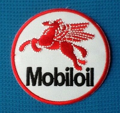 Red Pegasus Flying Horse Mobil Oil Gasoline Gas 1 Sow Sew Iron On Patch Badge