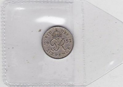 1952 George Vi Sixpence In Near Very Fine Condition