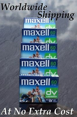 5 x EXCELLENT QUALITY MAXELL DVM-60 MINI DV VIDEO CAMCORDER TAPES / CASSETTES